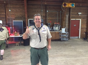 Del-mi's and National Executive Staffer John Stewart as Wood Badge staff C6-160-15-2.