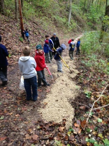 Pack 105 Trail maintenance in action 2