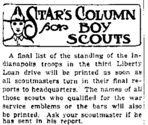 Star Column on scouting