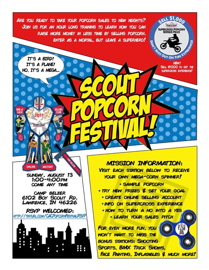Scout Popcorn Festival Aug. 13