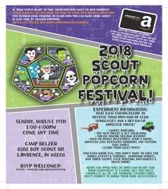 2018 Scout Popcorn Festival Flyer