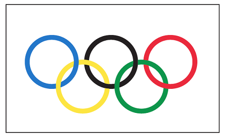 olympic rings flag