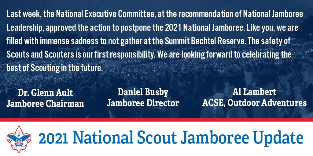 2021 Jamboree Cancelled
